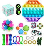 Amuver Fidget Toy Packs, Cheap Sensory Fidget Toys Pack with Simple Dimple Pop Bubble Infinite Cube Stress Ball and Anti-Anxiety Toys