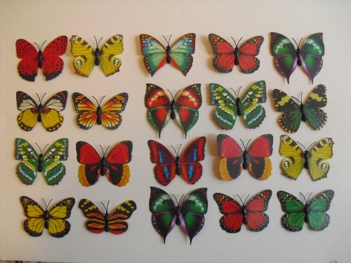 20 Piece Set Beautifull Butterfly Decoration Magnets
