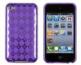 Flexible Gel Argyle Case for Apple iPod Touch 4G (4th Generation) - Purple