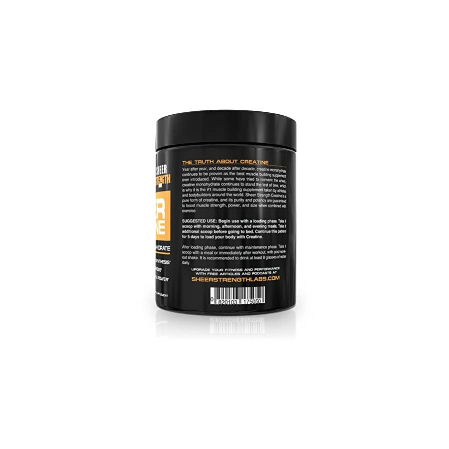 Sheer Strength Labs Creatine Monohydrate 500g 100 Servings