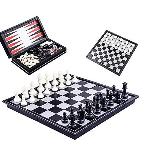 TUANTALL Tableros De Ajedrez Ajedrez para Ni?Os Portátil de Juego de ajedrez Ajedrez magnético Niños Juego de ajedrez…
