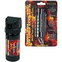 Wildfire Pepper Spray and Pepper Spray Gel Bundle - Lot of (2) Pieces - Black Wildfire 1/2 oz Keychain Pepper Spray and 2 oz Wildfire Pepper Spray Gel