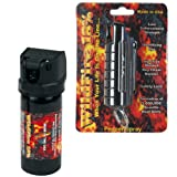 Cheap Wildfire Pepper Spray and Pepper Spray Gel Bundle – Lot of (2) Pieces – Black Wildfire 1/2 oz Keychain Pepper Spray and 2 oz Wildfire Pepper Spray Gel