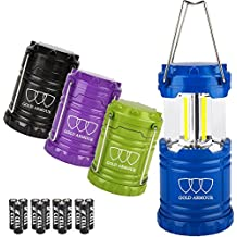 Gold Armour Brightest LED Lantern 4Pack - Camping Lantern (EMITS 500 LUMENS!) - Camping Gear Equipment Accessories for Hiking, Emergencies, Hurricanes, Outages