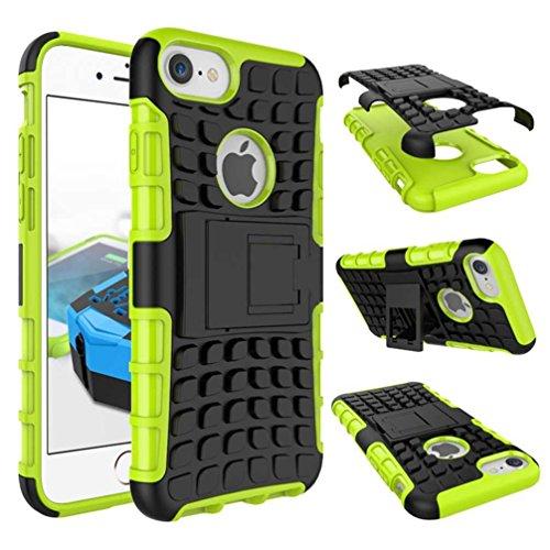 """4.7"""" iPhone 7 Coque, AOFad Case Protection des lourds Béquille Soft Feel vert Plastique Vidéo Frais Accessoires Série Pour Femme Homme L246"""