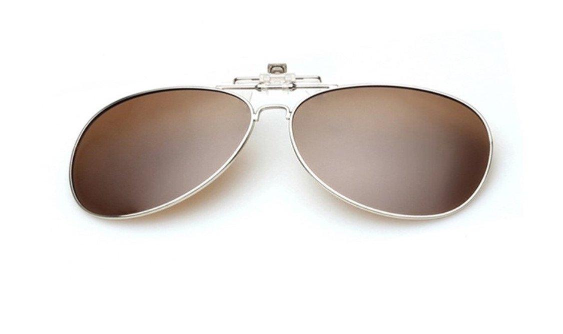 UK1stChoice-Zone Marrone Flip Up Clip Su Occhiali da Sole Lenti Polarizzate IT-FBA-SunGlasses0001-Brown