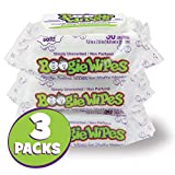 Boogie Wipes Soft Natural Saline Wet Tissues for Baby and Kids Sensitive Nose, Hand, and Face with Moisturizing Aloe, Chamomile, and Vitamin E, Unscented, 30 Count (Pack of 3) Image