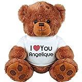 I Heart You Angelique Love: Medium Plush Teddy Bear