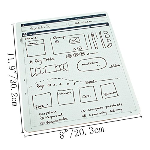 ZZ Lighting Creative Portable Whiteboard Double-Sided Whiteboard Dry Erase Board Office Drawing Painting Board Small Graffiti Board with Marker by ZZ Lighting (Image #2)