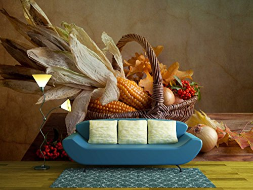 Still Life Autumn Concept Image with Vegetables and Wicker Basket
