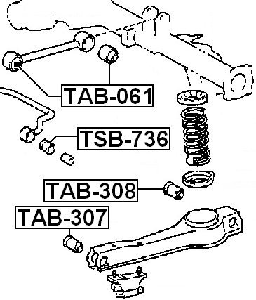 For Toyota 4870228080 for Lateral Control Arm Arm Bushing