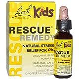 Bach, Original Flower Remedies, Rescue Remedy, Natural Stress Relief for Kids, Alcohol-Free Formula, 0.35 fl oz (10 ml) Dropper - 3PC