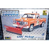 #7222 Revell Trucks GMC Pickup with Snow Plow 1/24 Scale Plastic Model Kit,Needs Assembly by Revell