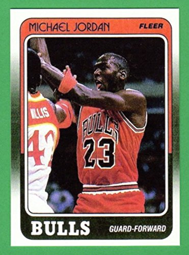 Michael Jordan 1988-89 Fleer Basketball Reprint Card (Bulls)