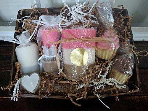 Neapolitan Ice Cream Candle Gift Basket