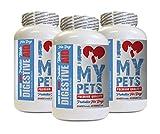 I LOVE MY PETS LLC Dog Food additive - Digestive AID for Dogs - PET PROBIOTIC Beef Liver Treats - 180 Treats (3 Bottles)