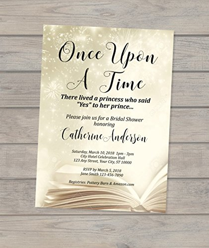 Amazon Com Once Upon A Time Bridal Shower Invitation Fairy Tale