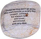 Holy Land Market - Those we love don't go away ... Extra Large Engraved Natural Stones from the Holy Land : 4 - 5 Inches