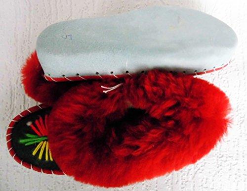 LAMMFELL Warme HAUSSCHUHE Gr.34,5 NEU, Schaffell/-leder (Made in Poland 16.12.3.87.3A17)
