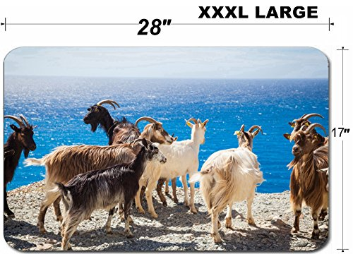 - Luxlady Large Table Mat Non-Slip Natural Rubber Desk Pads ID: 40508692 Wild living goats in Corsica