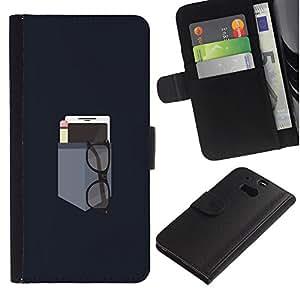"""JackGot ( Bolsillo minimalista"""" ) HTC One M8 la tarjeta de Crédito Slots PU Funda de cuero Monedero caso cubierta de piel"""