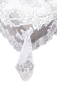 amazon ritz lace oblong tablecloth 63 by 108 inch white home 70 Inch Plasma TV share facebook twitter pinterest