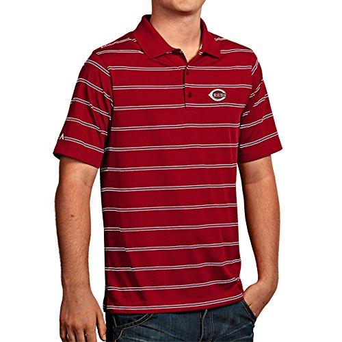 (Antigua Cincinnati Reds Men's Deluxe Short Sleeve Polo Medium)