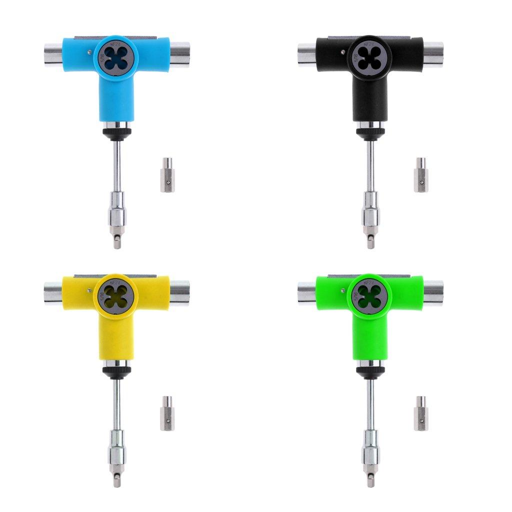 Tightening Skateboard Wrench Wheels Bearing Tool Longboard Screws Repair Black