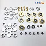 New Design Finger Spinner ,LinkS Super Cool 9 Bearing Gear Linkage Hand Tri- Spinner Fidget Toy, Copper- Aluminum Alloy With Metal Bearing ADHD Focus Anxiety Relief Toys.Fastest Most Lasting