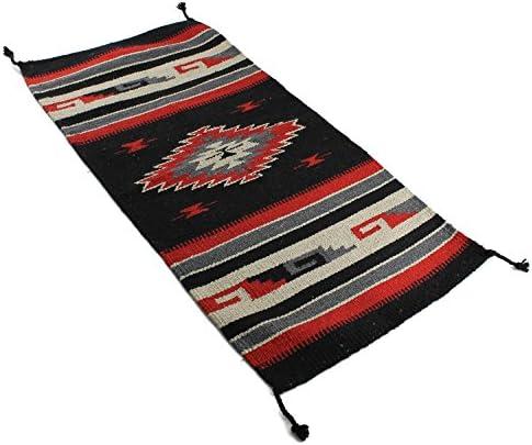 Onyx Arrow Southwest D cor Area Rug, 32 x 64 Inches, Center Diamond, Black Red