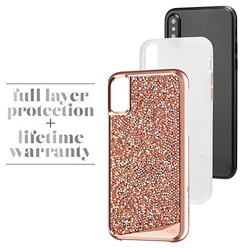 Case-Mate CM036272 Schutzhülle für Apple iPhone X rosegold