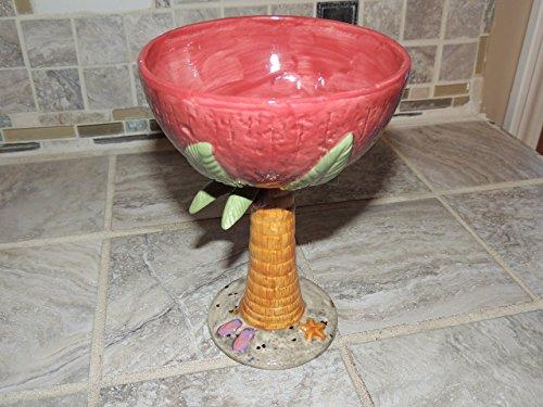 Bahama Mama ceramic margarita glass. Food and dishwasher safe.