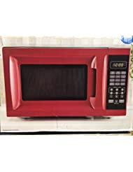 Mainstays 700W Output Microwave Oven, Red