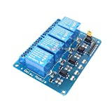 BeediY 10pcs/lot with optocoupler 4 Channel 4-Channel Relay Control Panel PLC Relay 5V Module for arduino