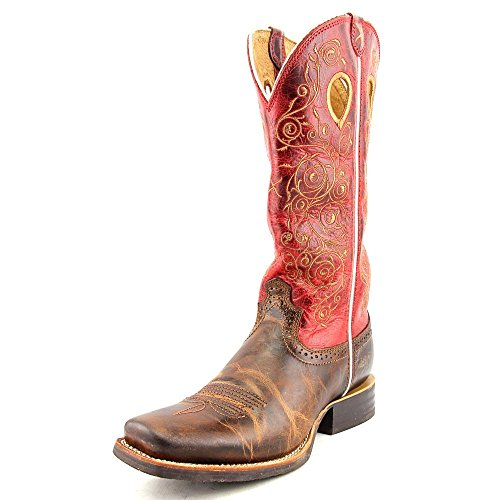 Twisted X Boots Stiefel RUFF STOCK Damen Westernreitstiefel Saddle Red