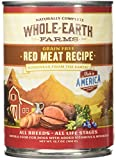 Whole Earth Farms Grain Free Red Meat Canned Dog Food, Case of 12 For Sale