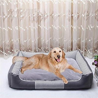 Wuwenw Cálido Perro Mascota Camas para Perros Grandes Impermeable Cama De Perro Inferior para La Lona Desmontable Y Lavable Cálido Gato Casa Perro Mascota ...