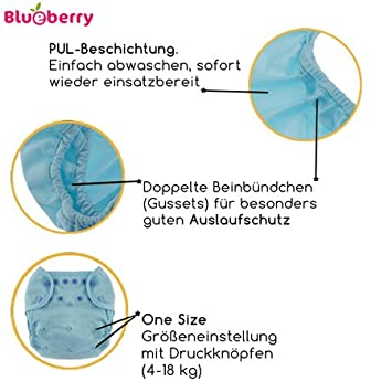 5,5-16 kg Work Zone Gr/ö/ße One Size Blueberry Capri 2.0 /Überhose // Druckies