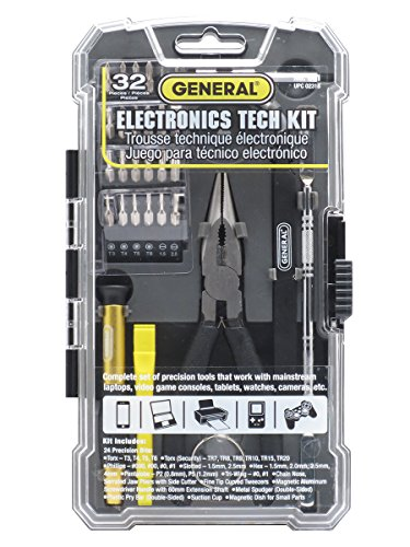 General Tools 661 Electronics Tech Repair Kit (32 Piece)