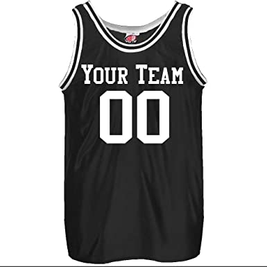 01d17123c610 Amazon.com  Old School Custom Basketball Jersey Adult in Black ...