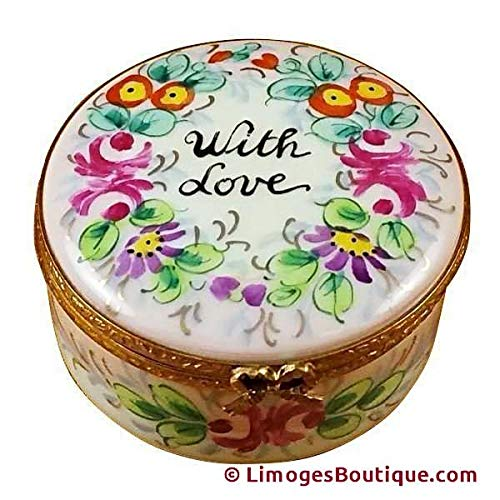 French Limoges Boxes Boutique ROUND - WITH LOVE - STUDIO COLLECTION - LIMOGES BOX AUTHENTIC PORCELAIN FIGURINE FROM FRANCE