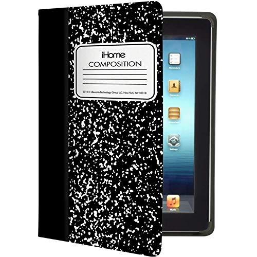 (iHome Composition Book Case for iPad 3/4, Black (IH-FR-IP1106B))