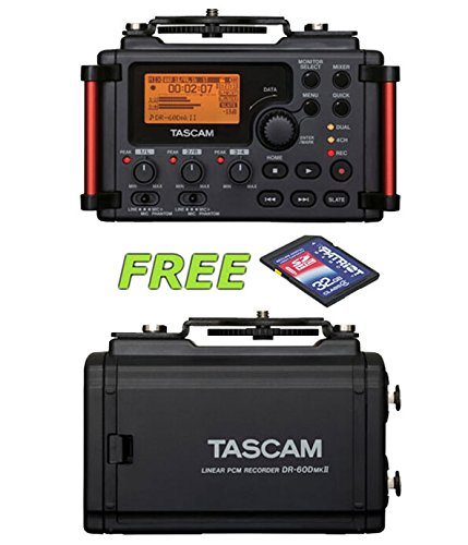 Tascam DR-60DmkII Portable Recorder with a Free Patriot 32GB SD Card