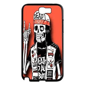 IPHONE Phone Case Of colorful cute skull boy ,Hard Case !Slim and Light weight and won't fade, Scratch proof and Water proof.Compatible with All Carriers Allows access to all buttons and ports. For Samsung Galaxy Note 2 N7100