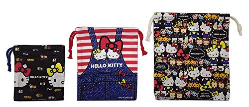 [Set of 3] Hello Kitty 3 Sized Purse KB3S Denim pattern