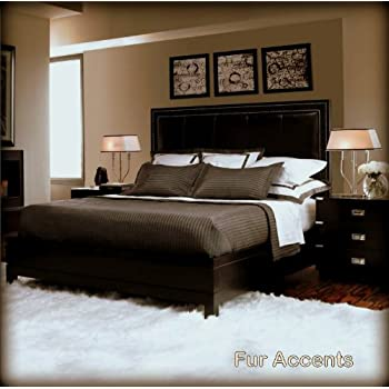 faux fur rug black sheepskin grey large accents area carpet off white rectangle accent