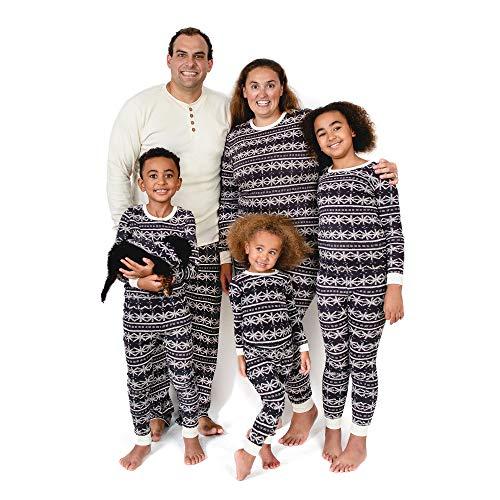 Burt's Bees Baby Family Jammies, Holiday Matching Pajamas, 100% Organic Cotton PJs, Frozen Fair Isle, 24 Months 2-Piece