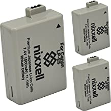 ( 3 Pack ) Ultra High Capacity Nixxell Battery for Canon LP-E5 LC-E5 LPE5 for Canon EOS Rebel XS, Kiss F, Kiss X2, Kiss X3, EOS Rebel XSi, EOS Rebel T1i, EOS Rebel 450DM, EOS Rebel 500D, Rebel 1000D