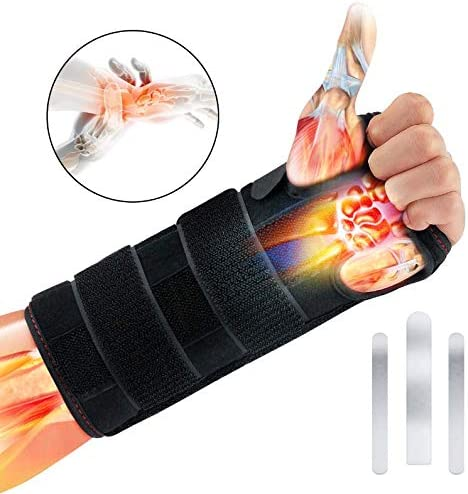 Comfortable and Adjustable Wrist Splint for Arthritis and Tendinitis Relieve and Treat Wrist Pain,Fit for Left Hand and Right Hand MOICO Carpal Tunnel Wrist Brace Night Support