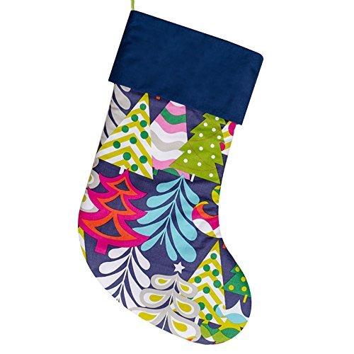 navy blue handmade christmas stocking xmas sock - Handmade Christmas Stockings